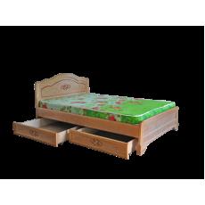 """Кровать деревянная """"Сатория""""  с ящиками"""