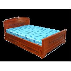 """Кровать деревянная """"Афина"""" с ящиками"""