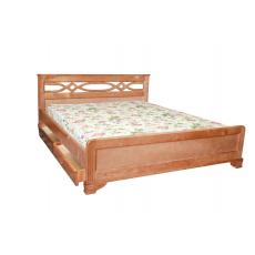 """Кровать деревянная """"Лира""""  с ящиками"""