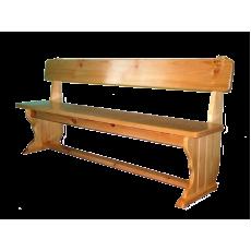 Лавка деревянная со спинкой