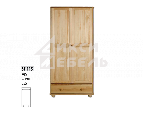 "Шкаф деревянный ""Витязь"" 115"