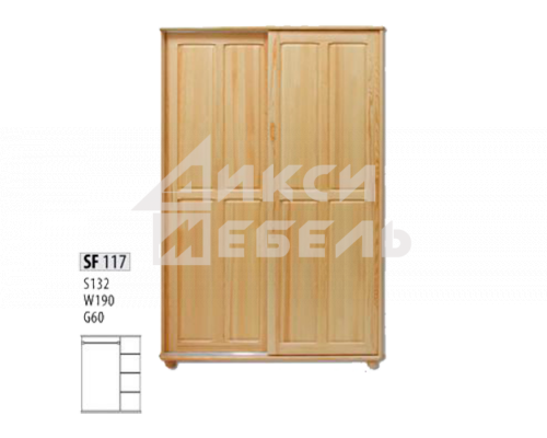 "Шкаф деревянный ""Витязь"" 117"