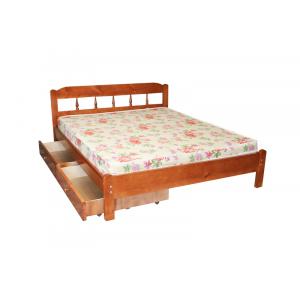 """Кровать деревянная """"Дачная""""  с ящиками"""