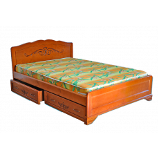 """Кровать деревянная """"Муза-2"""" c ящиками"""
