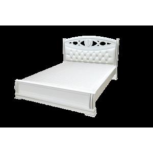 """Кровать деревянная """"Сиена"""" с мягкой спинкой"""