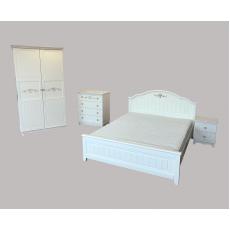 "Комплект ""Эмила"" - Кровать, тумба, комод, шкаф"
